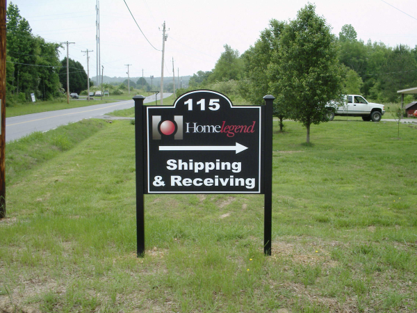 Post & Panel Routed Directional Sign