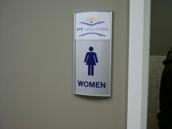 ADA Restroom Sign with Logo