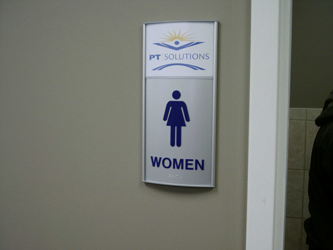ADA Restroom Sign with Logo