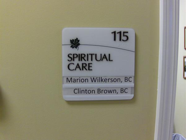 ADA Room Sign with Window Slots