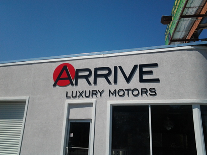 Auto Dealer Dimensional Building Sign