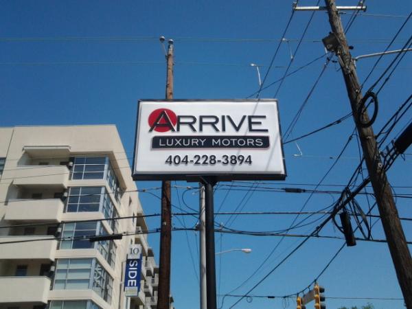Auto Dealer Pylon Sign