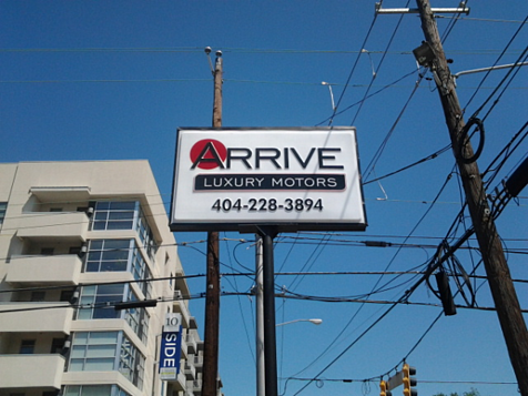 Auto Dealer Pylon Sign