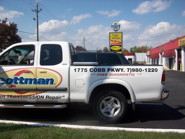 Signs Atlanta Custom Truck Graphics For Cottman Transmission
