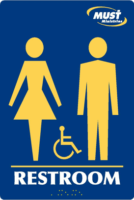 Custom ADA Restroom Sign
