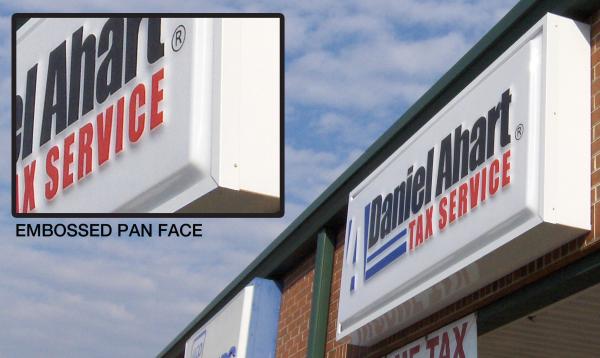 Embossed Pan Face Light Box
