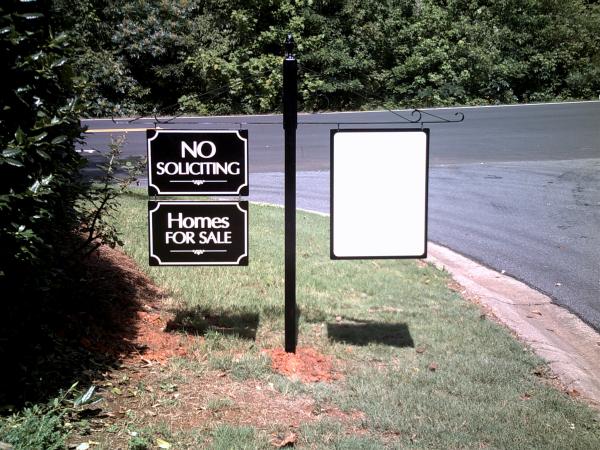 Neighborhood No Soliciting Sign