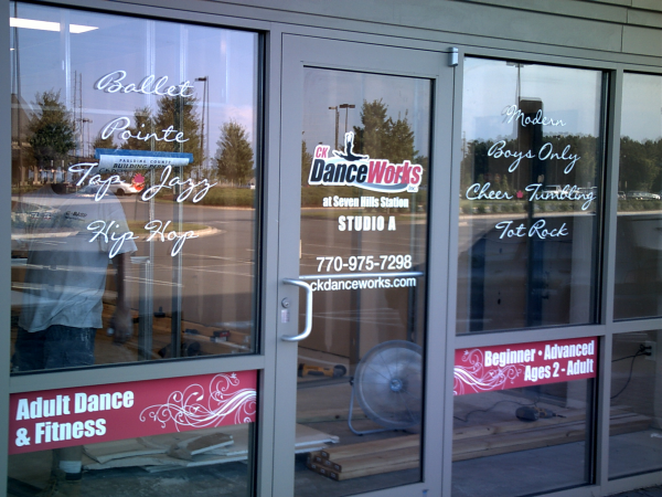 White and Printed Full-Color Window Graphics