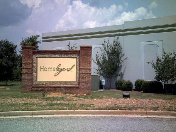 Brick Monument Sign with Aluminum and PVC Dimensional Letters
