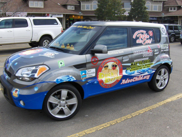 DuckDerbyPartialVehicleWrap resized 600
