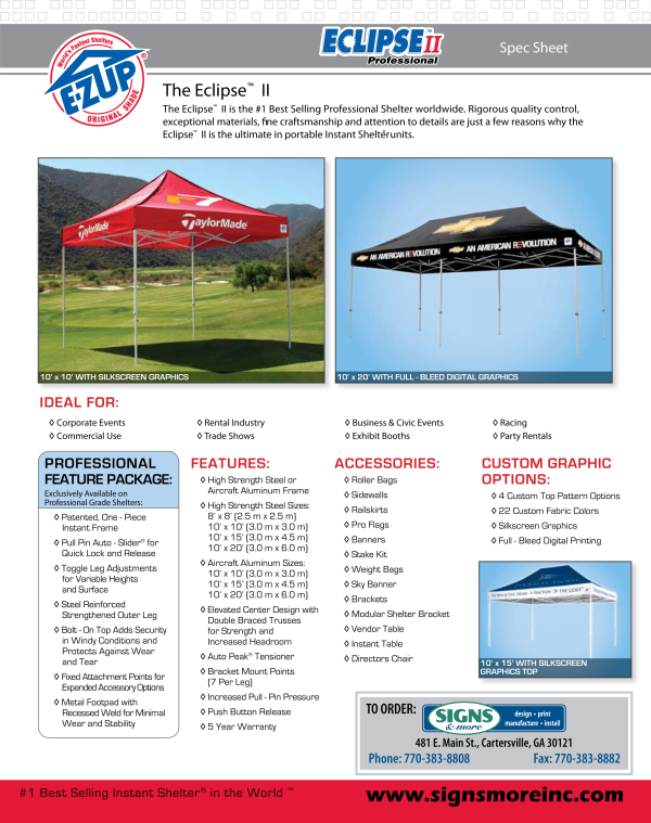 EZ Up Tent Pg. 1