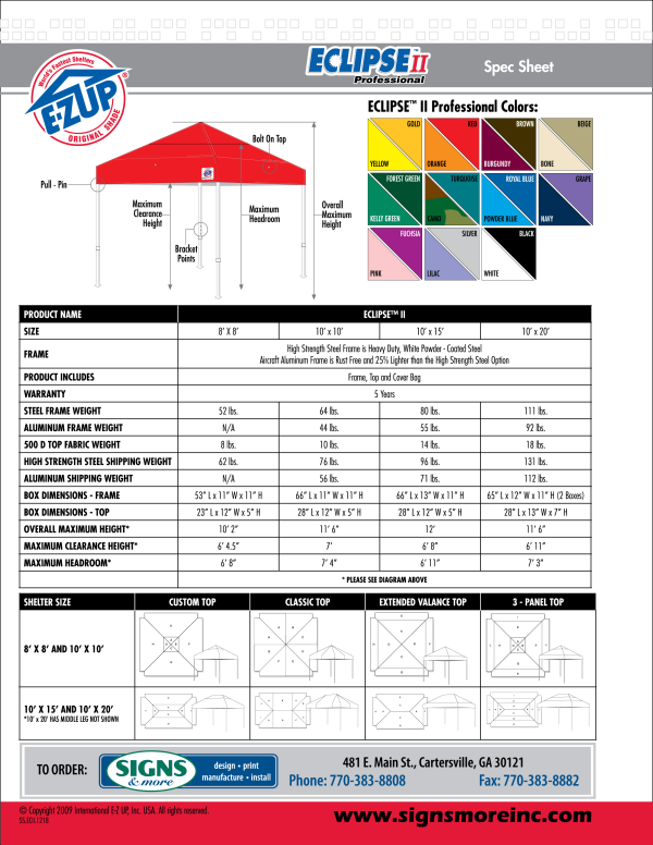 EZ Up Tent Pg. 2