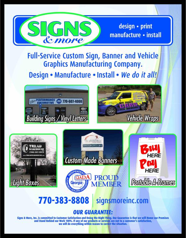 Automobile Dealer Signs