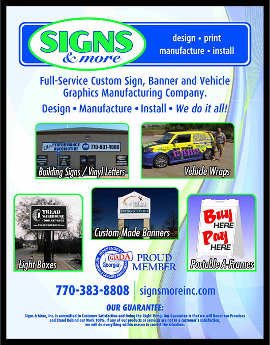Automobile Dealer Signs