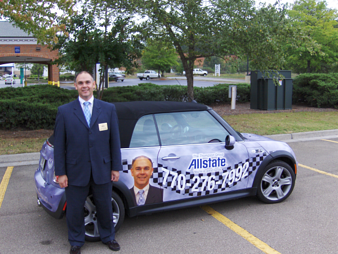 Allstate Mini Cooper Vehicle Wrap