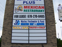 Marquee Sign with Tenant Panels