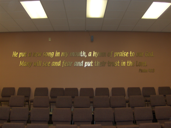 Church Bible Verse Dimensional Letters