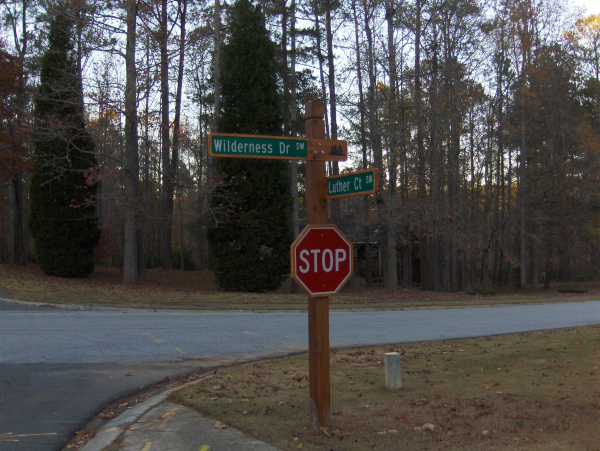 Custom Street Routed Signs
