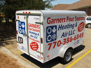 Trailer with Vinyl Lettering