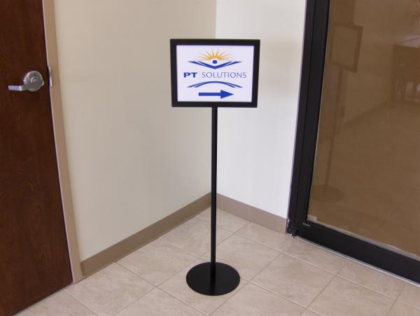 Directional Pedestal Sign