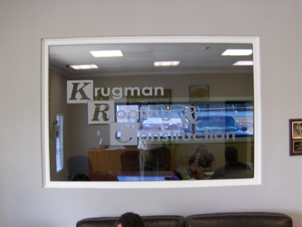 Window Graphics, Etch Vinyl