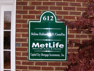 Routed Acrylic Tenant Suite Sign