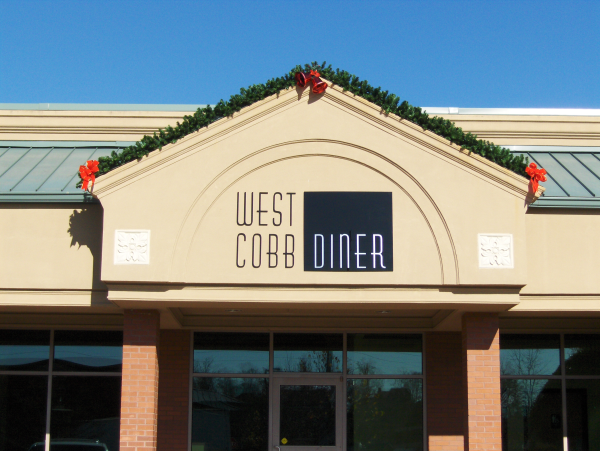 West Cobb Diner, Dimensional Letter Wall Sign
