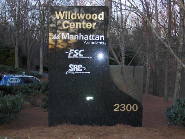 Granite CB Richard Ellis Monument Sign