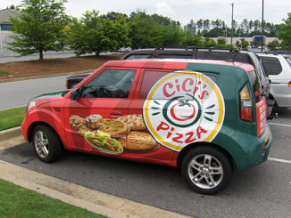 CiCi's Pizza Car Wrap