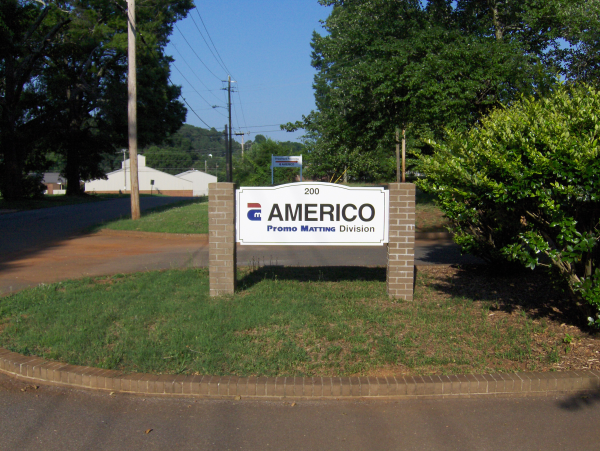 Brick Monument with Routed PVC Sign