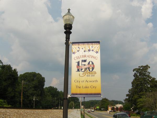 150th Anniversary Street Banners Acworth