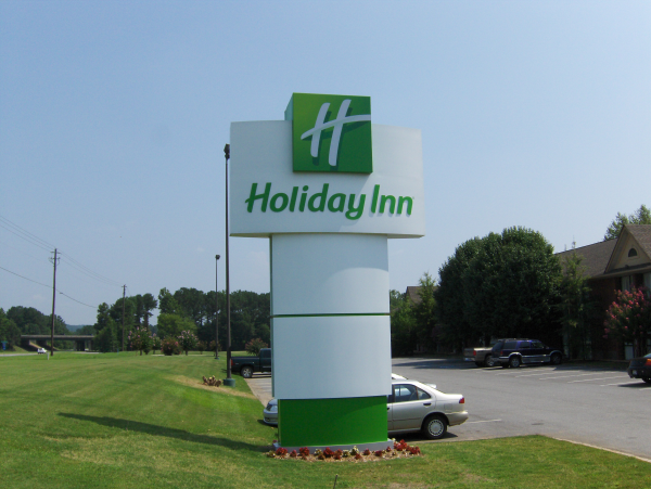 Holiday Inn Lighted Pylon Sign