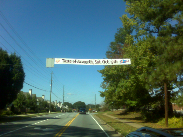 Taste of Acworth Street Banner
