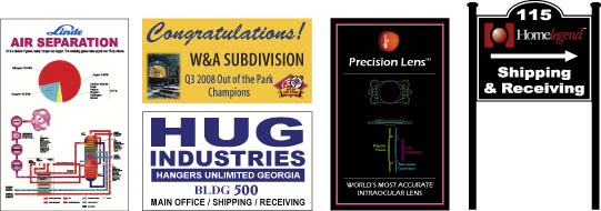 Process Flow Sign and Celebration Sign