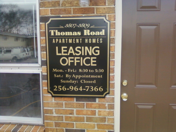Leasing Office Sign - Apartment Complex