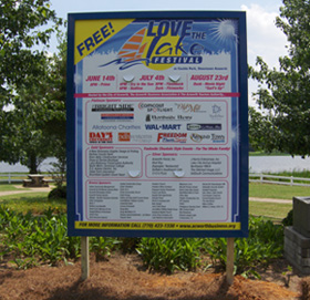 Love the Lake Banner Sign