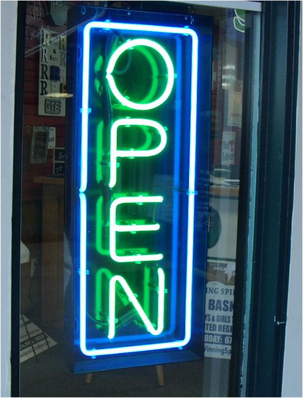 Neon Open Sign - Custom Colors