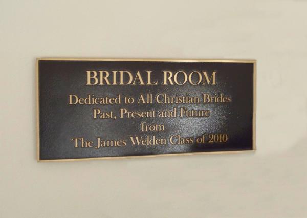 Church Room Plaque
