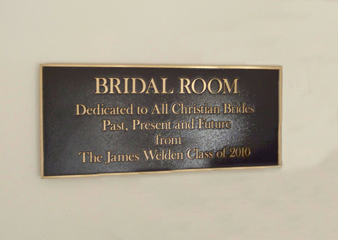 Church Room Plaque