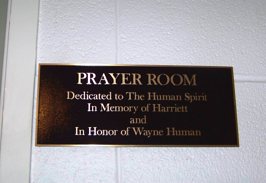 plaque prayer room