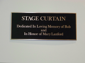 Plaque Stage curtain