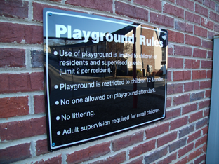 Apartment Playground Rules