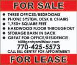 Sale or Lease