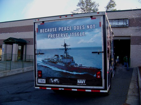US Navy Trailer Wrap Back