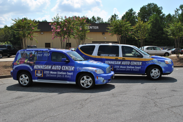 Vehicle wraps for new businesses in Georgia