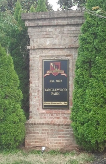 Neighborhood Entrance Sign Face Replacement