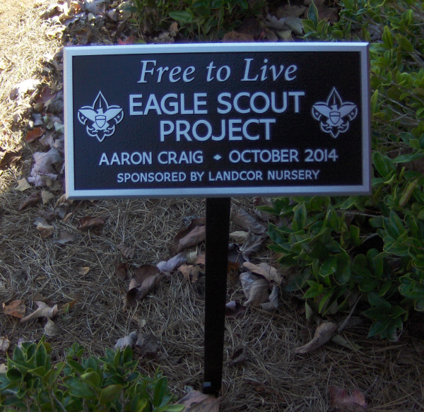 Eagle Scout Aluminum Plaque on Stand