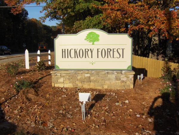 Stone and PVC Neighborhood Sign