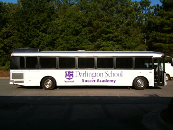Darlington School Soccer Academy Bus