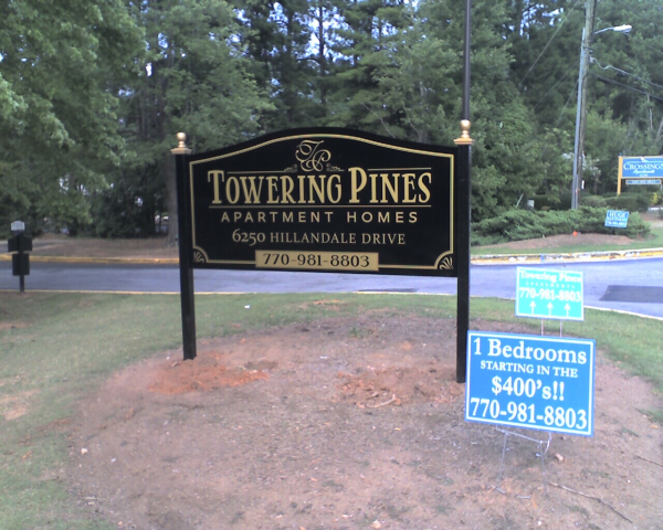 Apartment Entrance Post & Panel Sign